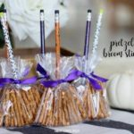 Halloween Pretzel Brooms Sticks