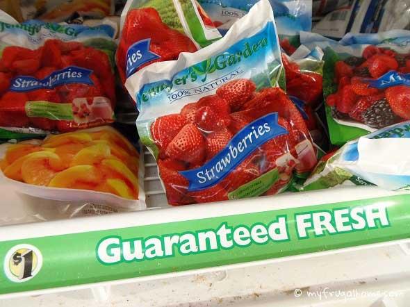 Dollar Tree Frozen Fruit