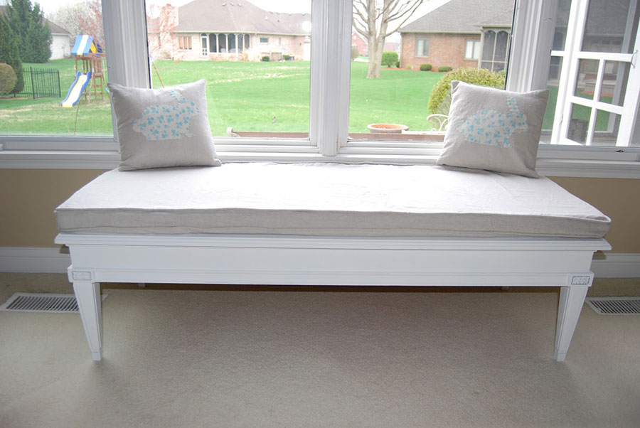 Finished Table Window Seat