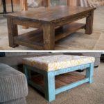 Coffee Table turned DIY Ottoman