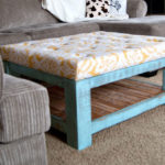 Coffee Table turned DIY Ottoman