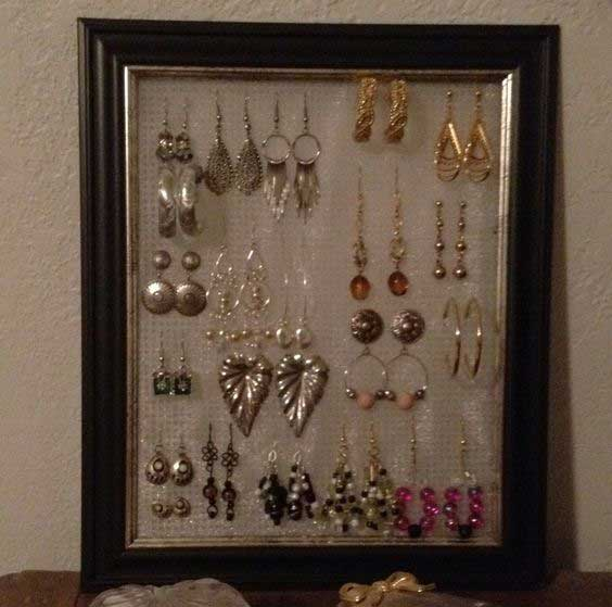 DIY Photo Frame Earring Holder