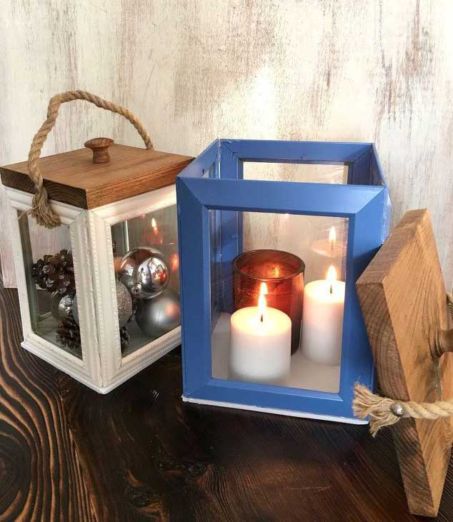 DIY Photo Frame Lantern