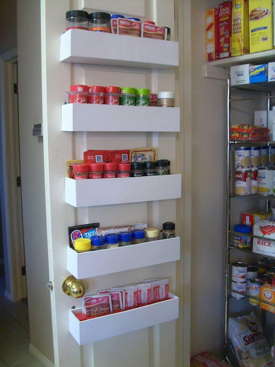 DIY closet organization back door shelves