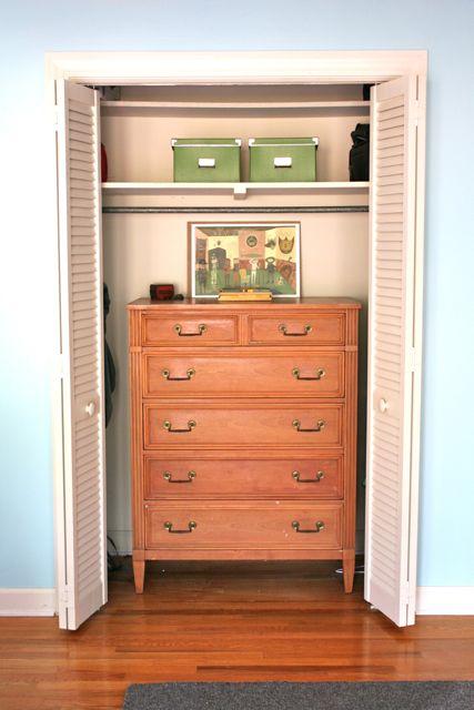 DIY closet organization drawer space