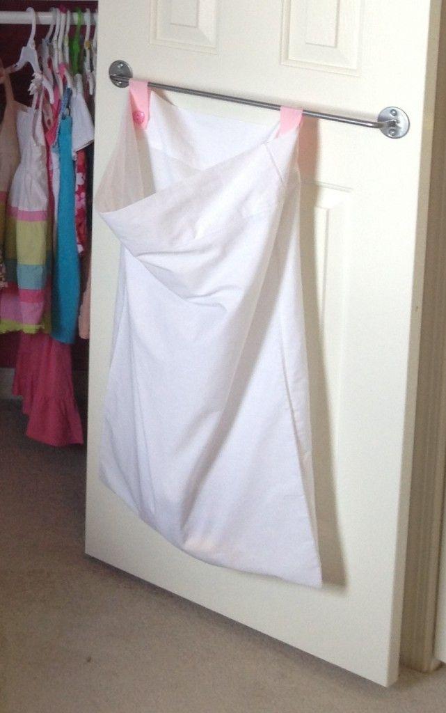 DIY closet organization laundry