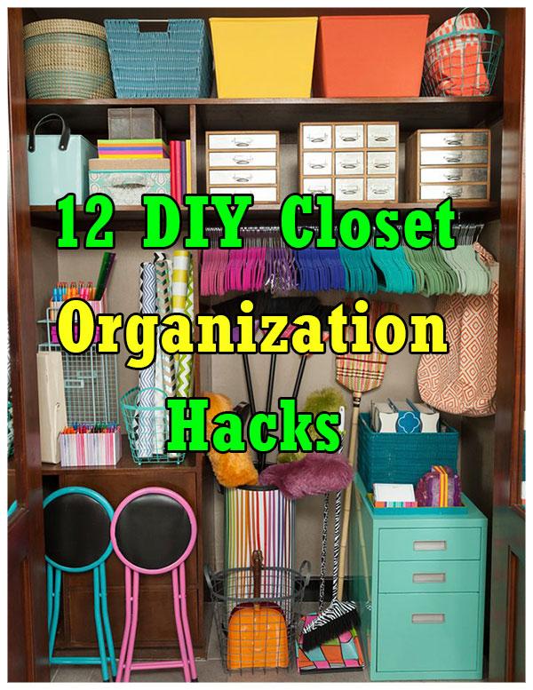 12 DIY closet organization hacks