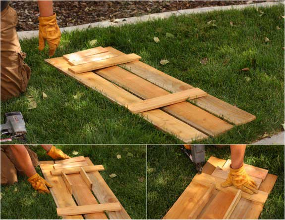 Create diy shutters in 5 simple steps frugal living for life for How to make shutters from pallets