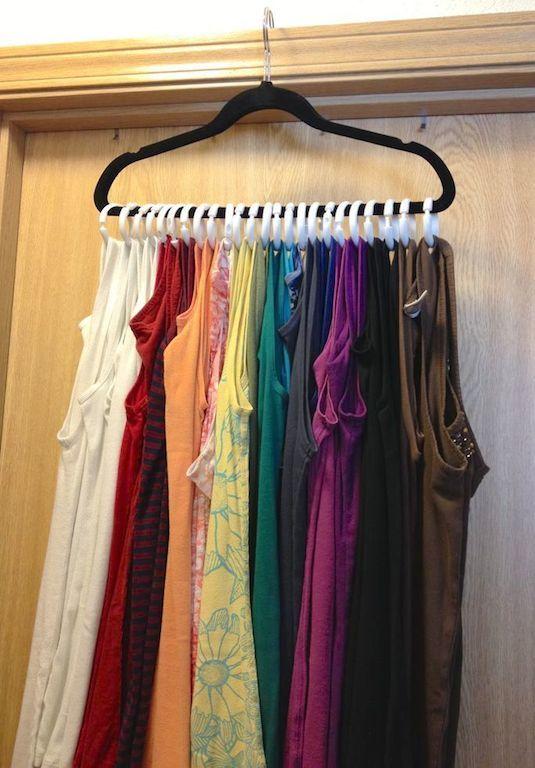 DIY closet organization Hanger Rings