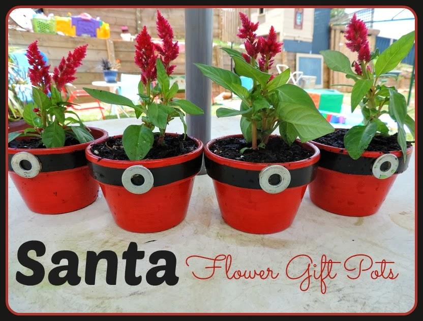 Santa Flower Pots