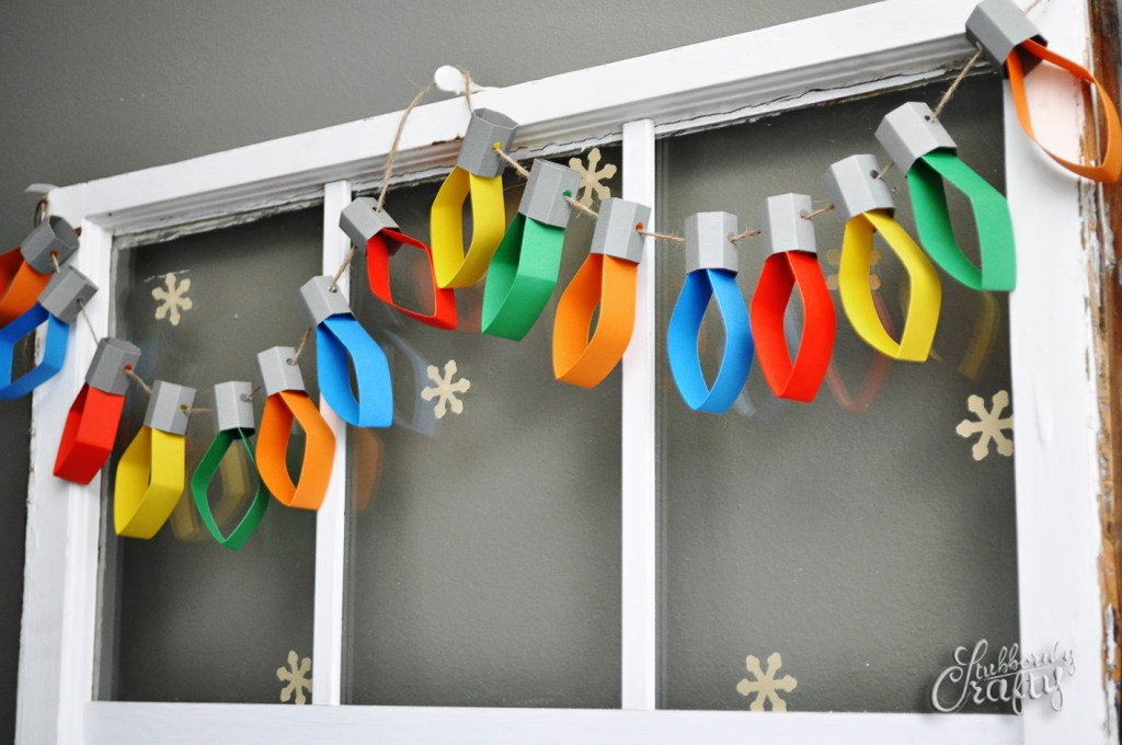 Paper Christmas Lights