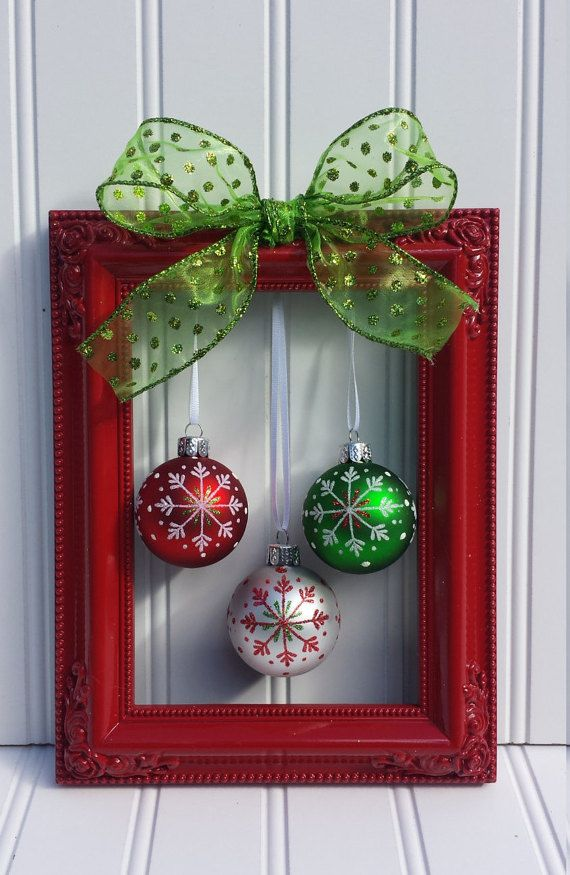 19 simple diy christmas crafts frugal living for life 12 picture frame bulbs solutioingenieria Image collections
