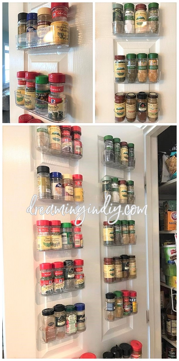 Organize Spices Using Clear Command Caddies