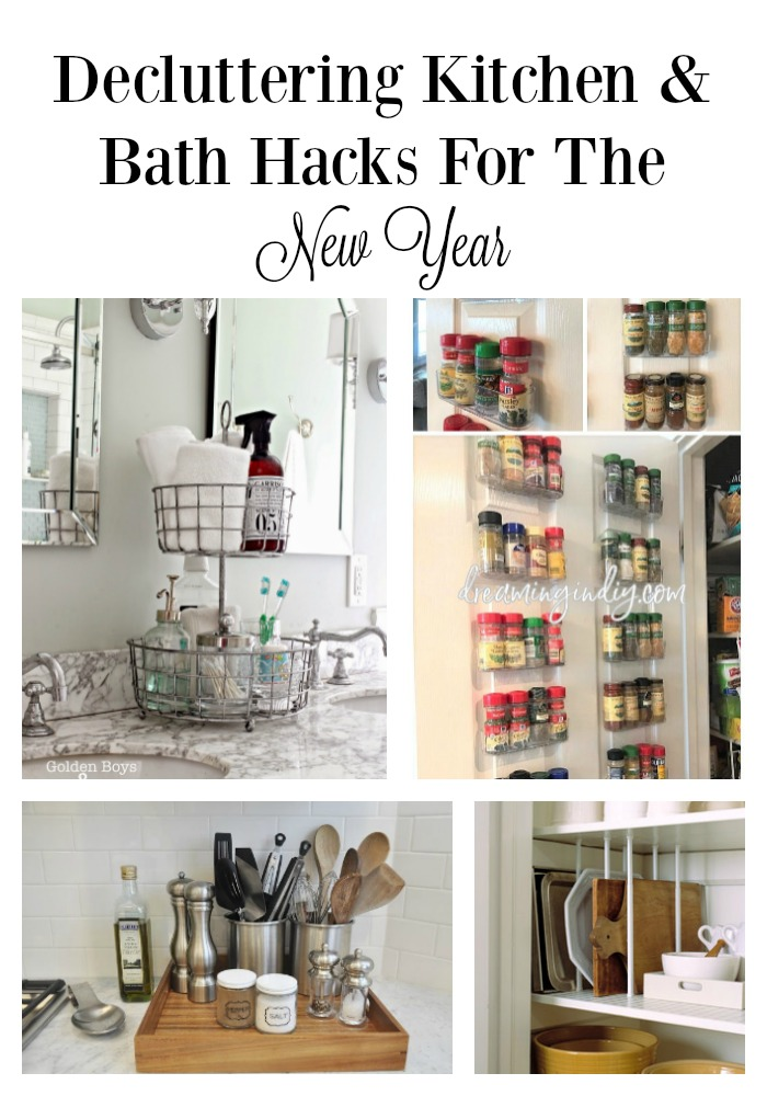 Decluttering Kitchen and Bath Hacks for the New Year