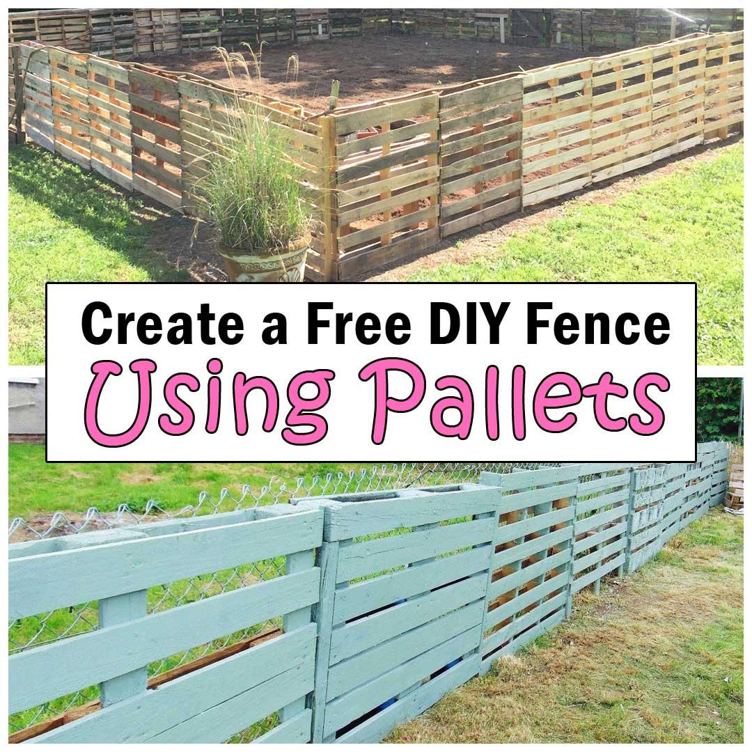 DIY fence using pallets
